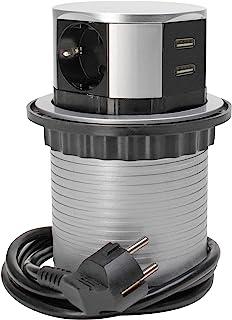 Kopp 3-voudige stekkertoren voor kantoor, 2 x USB 2100 mA, voedingskabel 1,4 m, met aanraakbeveiliging, 229005011