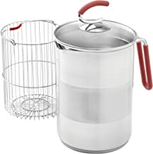 Kuhn Rikon 4th Burner Pot with Glass Lid and Steam basket 12 cup