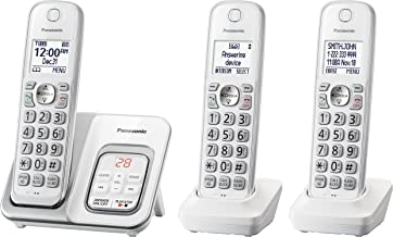 PANASONIC Expandable Cordless Phone System with Answering Machine and Call Block –..