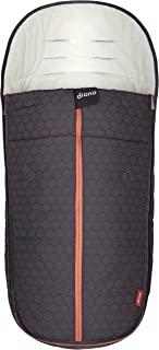 Diono All Weather Footmuff to Protect Your Baby in Car Seats & Strollers, Charcoal Copper Hive