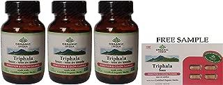 Organic India Triphala - 60 Veg Capsules - Pack of 3 -