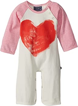 Toobydoo - Sweetheart II Bootcut Jumpsuit w/ Heart Print (Infant)