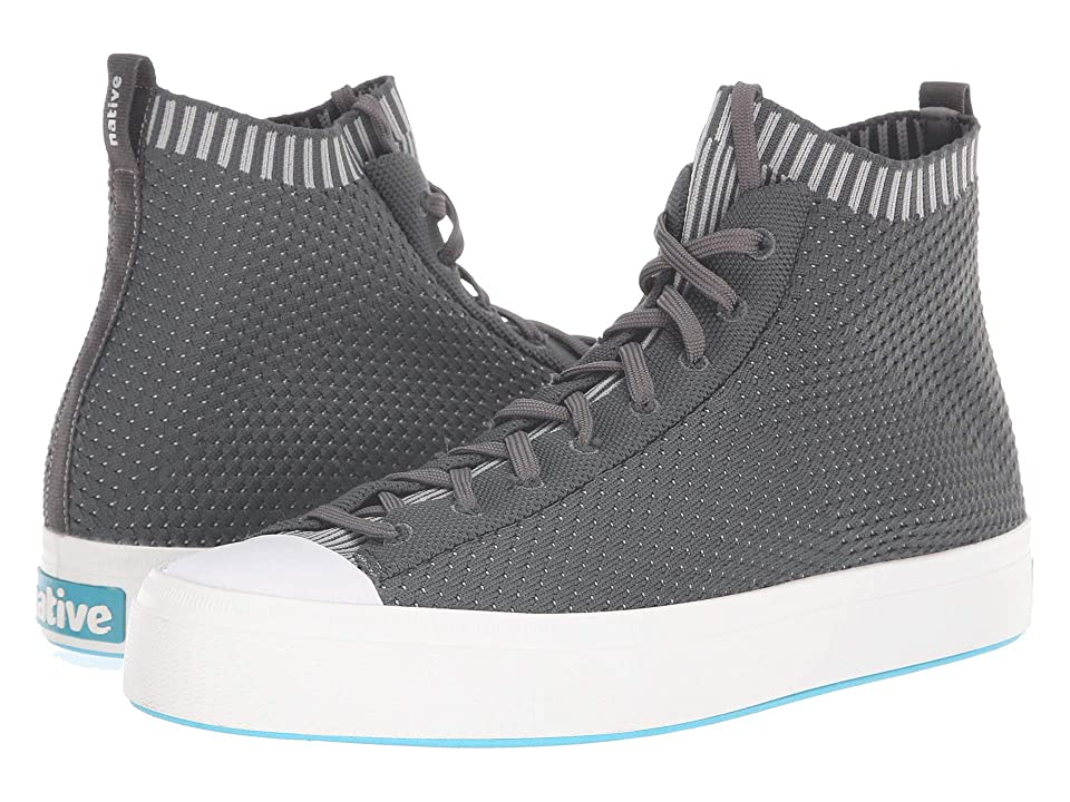 Native Shoes Jefferson 2.0 High (Dublin Grey/Shell White) Lace up casual Shoes