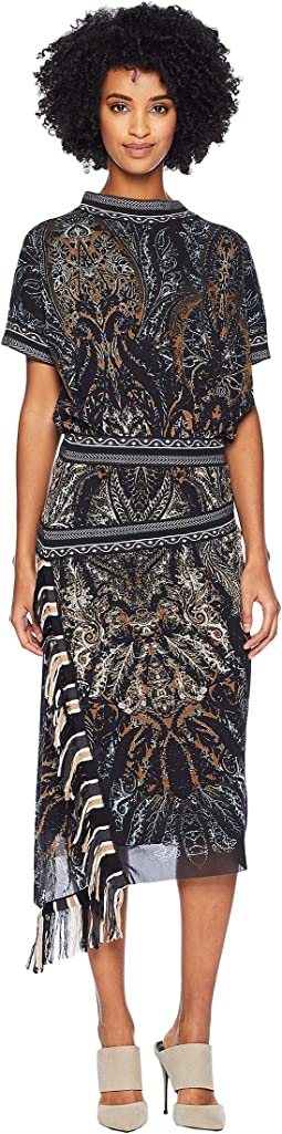 Paisley Fringe Dress