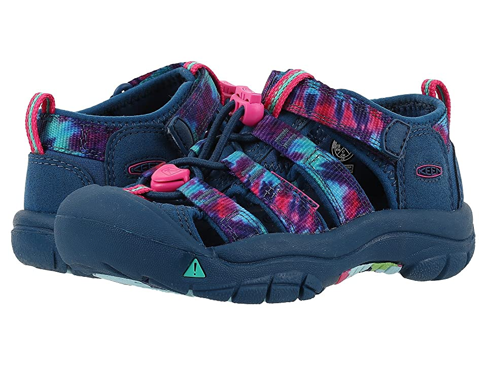 Keen Kids Newport H2 (Toddler/Little Kid) (Navy Tye-Dye) Girls Shoes