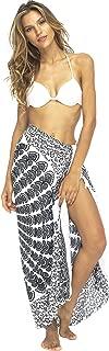 Womens Sarong Beach Swimsuit Bikini Cover up Wrap Peacock & Clip