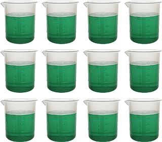 بسته 12 عدد آبجو ، 500 میلی لیتر - پلی پروپیلن پریمیوم - 10 میلی لیتر فارغ التحصیلان ، لکه های مخروط شده - آزمایشگاه های Eisco
