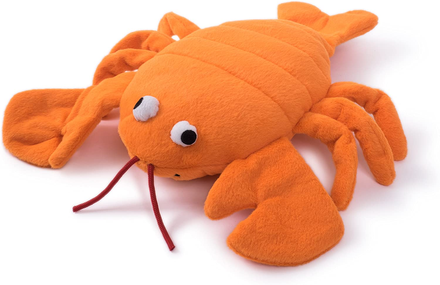 Petface Dog Toy, Sqeaky Chew Toy, Super Tough Plush Larry Lobster, orange
