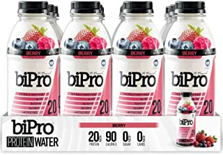 BiPro Protein Water, Berry, 16.9 Ounce (Pack of 12)