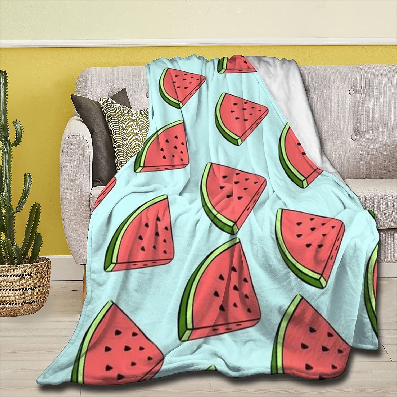 Tuxhhzdda Juicy Watermelon Throw Luxury Flannel Limited Special Price Used Bed S Blankets for