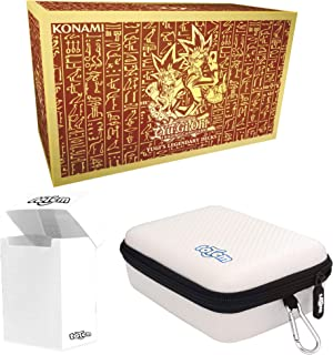 Totem World Yugioh Yugi's Legendary Decks TCG Holiday Kings of Game Collector's Box Set with a White Totem Deck Box and Zipper Case