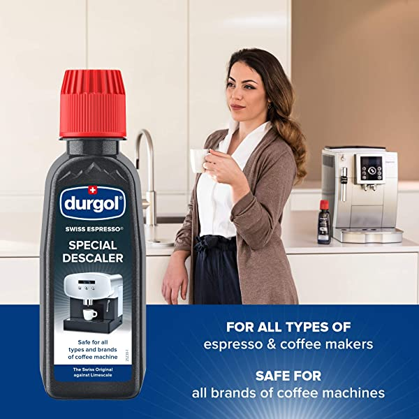 Durgol Swiss Espresso, Descaler and Decalcifier for All Brands of Espresso Machines and Coffee Makers, 4.2 Fluid Ounces (Pack of 2)