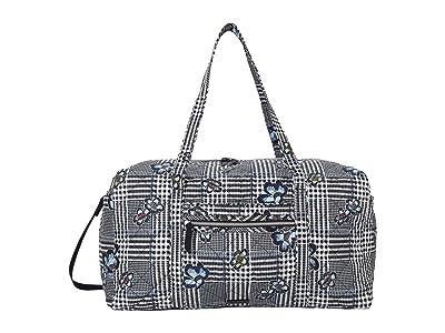 Vera Bradley Performance Twill Large Travel Duffel (Bedford Plaid) Bags
