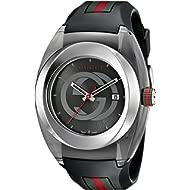SYNC XXL Stainless Steel Watch with Black Rubber Bracelet(Model:YA137101)