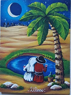 "Quadro arte PITTORE ULISSE olio su tavola""Passaggio tra le dune"" Opera unica ULISSE IN ARTE"