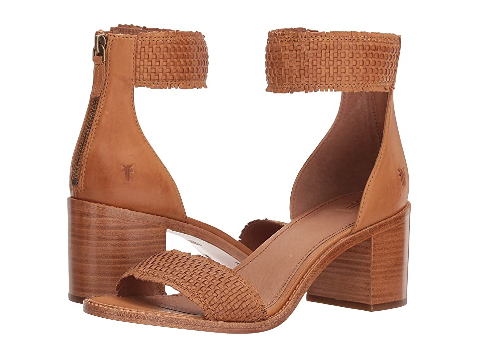 Frye Bianca Woven Back Zip (Tan) Women