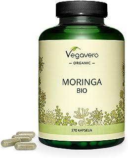 BIO Moringa Oleifera Vegavero®   La Dosis Más Alta: 1800 mg   270 Cápsulas   Superfood: Proteínas, Vitaminas, Minerales y Omega 3   Antioxidante   Libre de Aditivos   Apto para Veganos