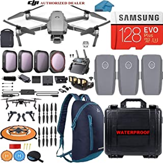 DJI Mavic 2 Pro Drone Quadcopter with Fly More Combo, Waterproof Hard Carrying Case and Backpack, Hasselblad Camera, 3 Batteries, ND Filters, 128GB SD Card, Landing Pad, Signal Booster Bundle Kit