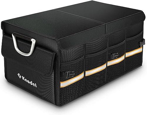 Knodel Organisateur de Coffre de Voiture Solide avec Housse Pliable, conteneur de Transport Pliable et Solide, bac de...