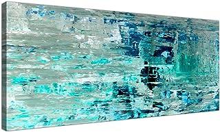 Lienzo Turquesa, verde azulado, abstracto, para pared – mo