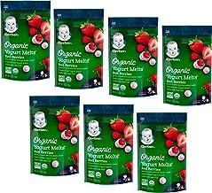 Gerber Organic Organic ماست ذرت ، تنقلات قرمز ، 1 اونس (بسته 7 عدد)