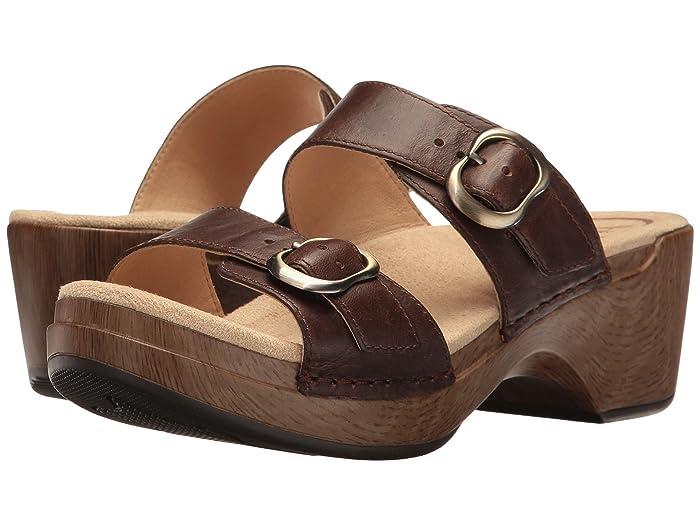70s Shoes, Platforms, Boots, Heels Dansko Sophie Teak Vintage Womens Sandals $119.95 AT vintagedancer.com