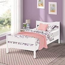 girls white wooden bed