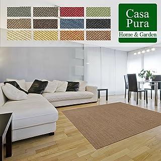 casa pura Alfombras Fibras Naturales - Alfombras Sisal | Sylt | Alfombra de Pasillo 100% Sisal | 12 Colores (Marrón Claro, 66x100cm)