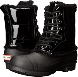 3de5bb204796 Hunter. Original Patent Leather Lace-Up Shearling Lined Boot.  59.00MSRP    295.00. Black