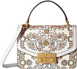 Tory Burch Juliette Printed Mini Top-Handle Satchel