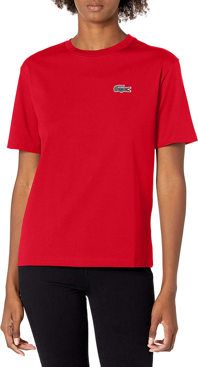 Cheap mail order shopping Lacoste Women's Super intense SALE Short Sleeve National Croc Geographic T-Shirt