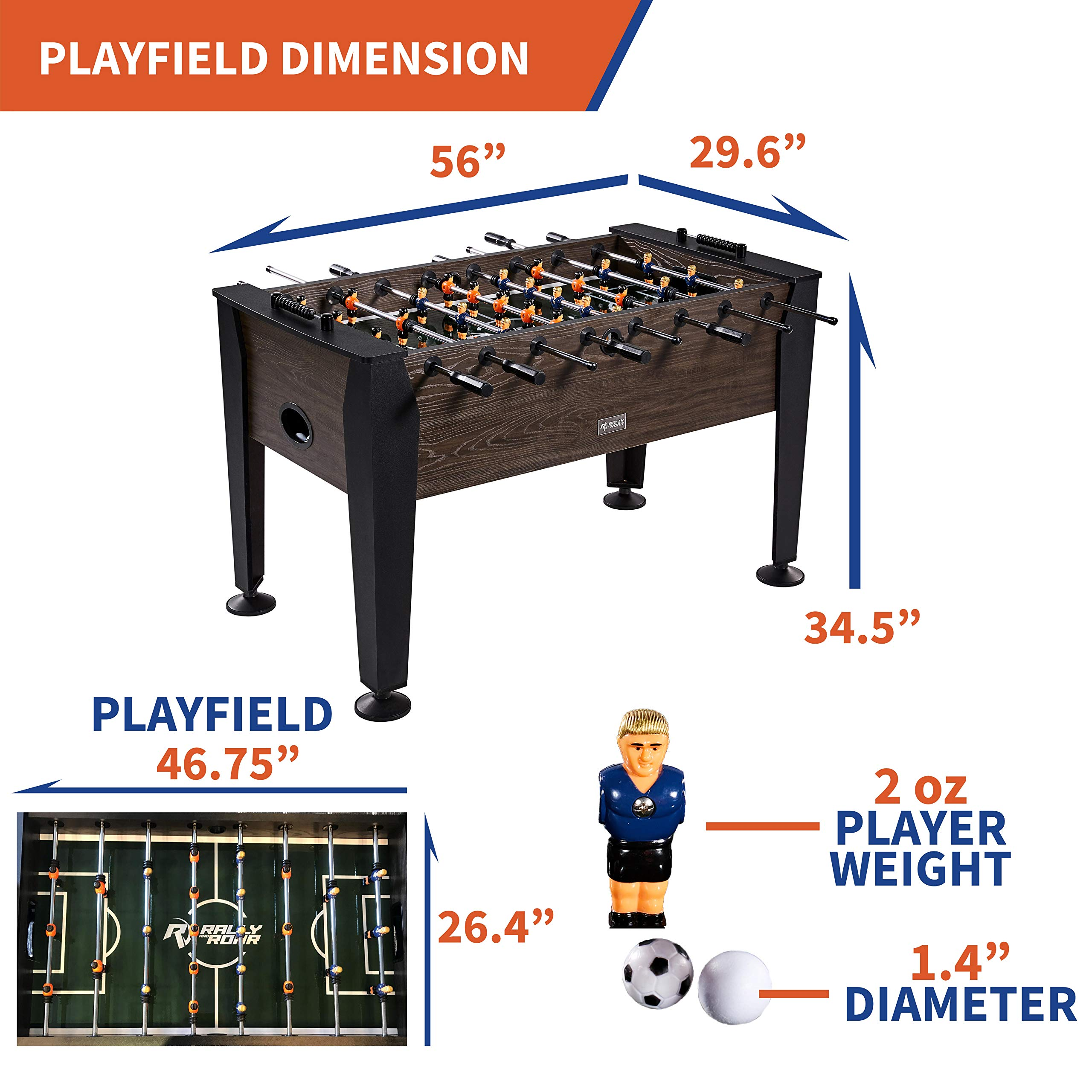 1. The Rally and Roar Table for Foosball