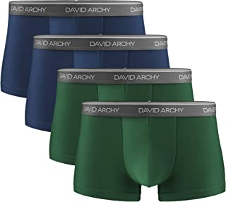 DAVID ARCHY Men's Underwear Ultra Soft Comfy Breathable Bamboo Rayon Trunks Boxer Briefs in 3/4/7 Pack