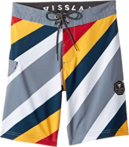 VISSLA Kids - Beach Rays Four-Way Stretch Boardshorts 17