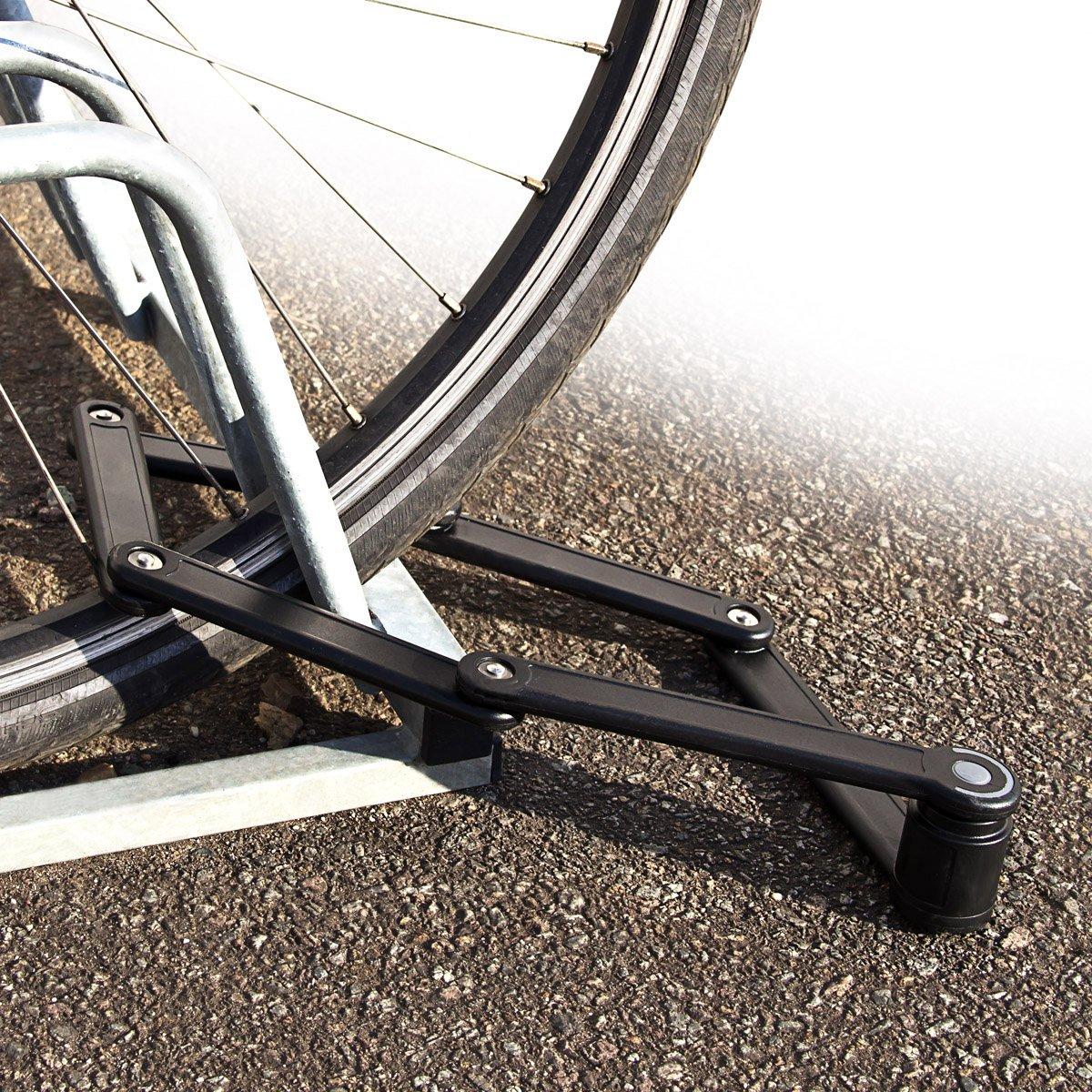 Relaxdays - Candado Plegable Bicicletas - Color Negro: Amazon.es ...
