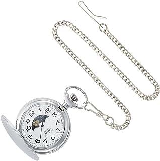 [Marino Capitan Ter Roh] Marino Capitano Pocket Watch Sun & Moon Sun and Moon Pocket Watch Arabic Numerals Mc-137-6