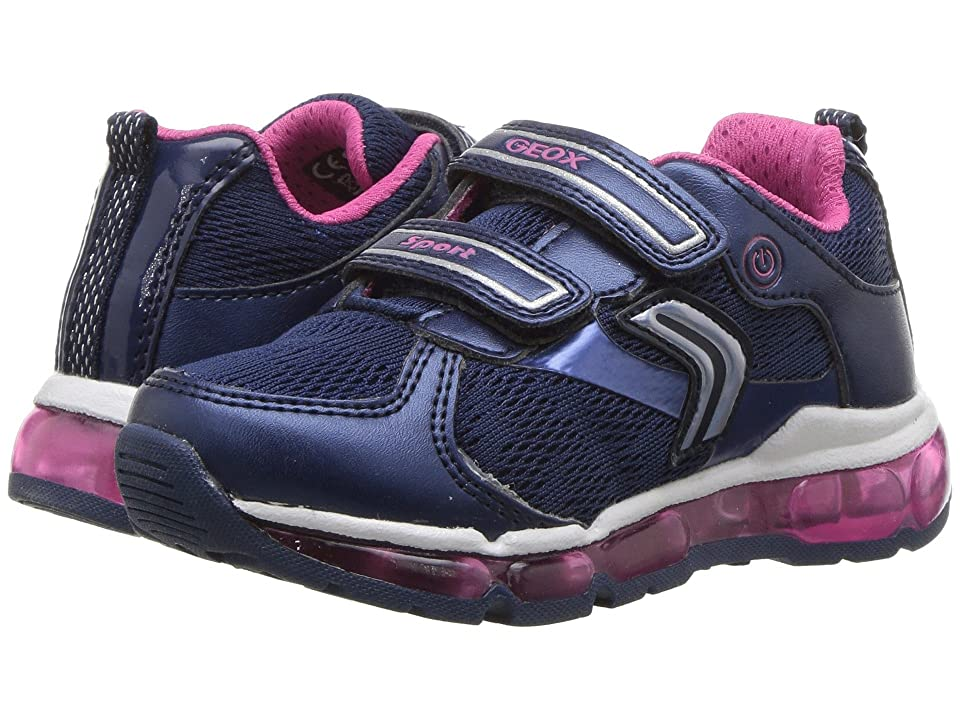 Geox Kids Android 16 (Toddler/Little Kid) (Navy/Fuchsia) Girl