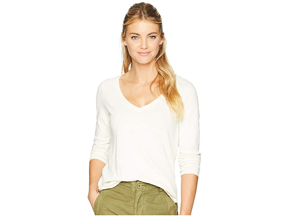 Three Dots Sueded Slub Knit (Gardenia) Women's Long Sleeve Pullover