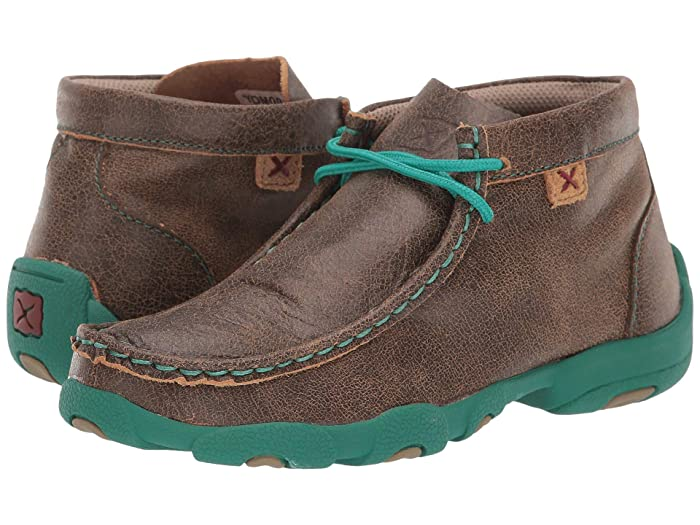 Twisted X  Driving Moc (Little Kid/Big Kid) (Bomber/Turquoise) Shoes