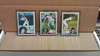 1983 Topps Baseball Complete Near Mint to Mint 792 Card Set with Rookie Cards of Hall of Famers Wade Boggs, Tony Gwynn and Ryne Sandberg plus the 2nd year card of Cal Ripken! Loaded with other stars including George Brett, Nolan Ryan, Mike Schmidt, Steve Carlton, Johnny Bench, Dave Winfield, Carl Yastrzemski, Robin Yount, Pete Rose, Ozzie Smith and many others.