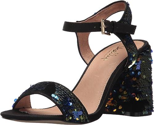 Shellys London damen& 039;s Gale Heeled Sandal, schwarz Blau, 39 M EU (8.5 US)