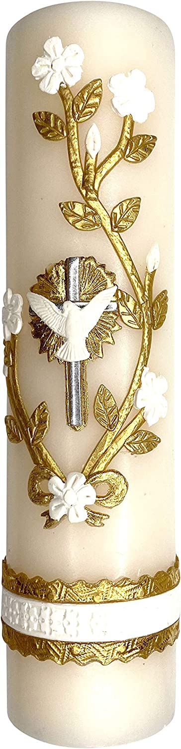Candle Handmade Some reservation Artisanal Dealing full price reduction Cross Mass Baptism Cathol Confirmation
