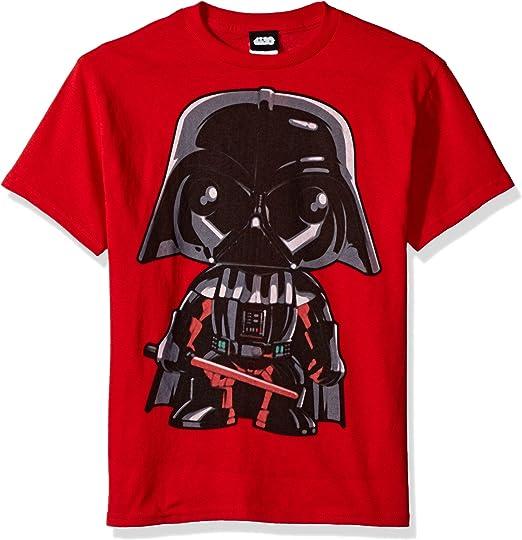 Star Wars Cartoon Funk Darth Vader Emoji Graphic Tee Camiseta Niños