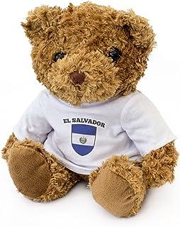 全新 - EL SALVADOR 国旗泰迪熊 - 可爱柔软可爱 - 礼品圣诞生日礼物