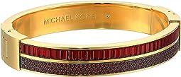 Color Crush Baguette Cut Crystal Hinge Bracelet
