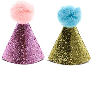 HUELE 2 pcs Dog Birthday Hat for Pets Party Cat kitten Headband hats Charms Grooming Accessories