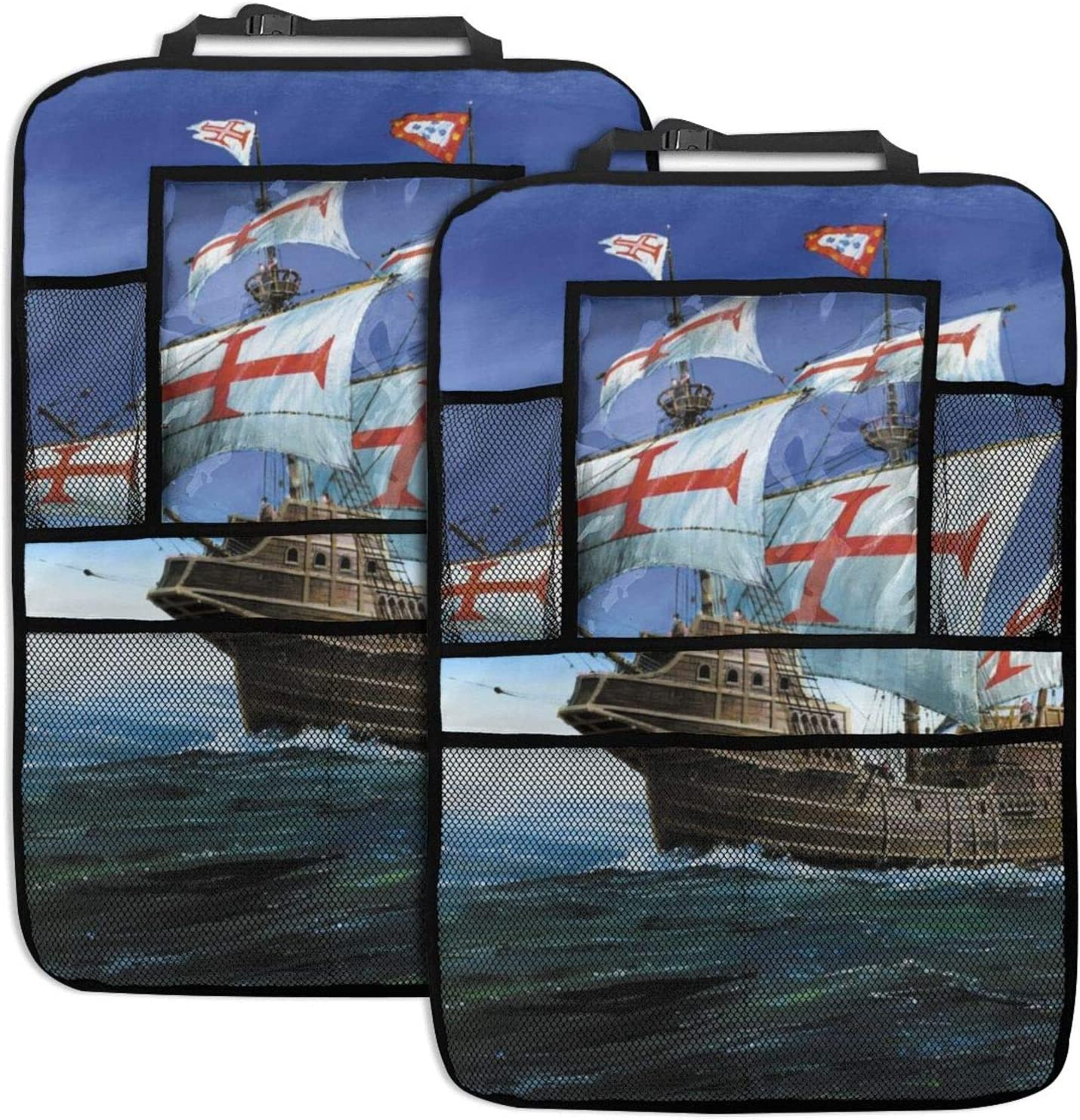 Car Backseat Organizer 2 Pack Today's only Sailing Univer Bombing free shipping Ship In Storm Waves