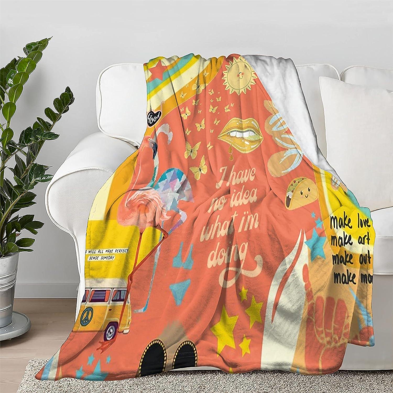 Lokapala Warm Vibesss Blanket Throw Quilt Flannel Max Popular standard 52% OFF Bedspread Soft