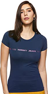 Tommy Hilfiger Women's TJW Linear Logo T-Shirt