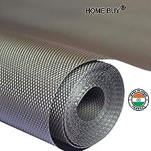 HOME BUY PVC Useful and Multipurpose Full Length Anti Slip Grip, Liner, Skid Resistant Mat size 45X500cm (Grey, 5 m)